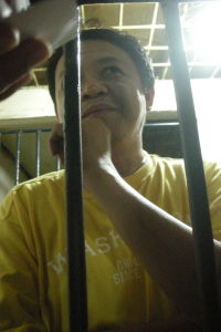 Remigio Saladero behind bars