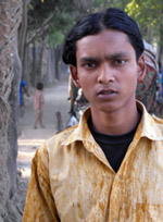 Liton, 18, has been a garment worker since he was 1. For the last six months he worked at Sayem Fashion.